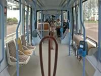 Innenansicht Tram für die Linie B