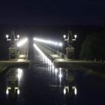 Brücke des Canal de Briare bei Nacht