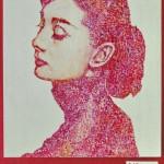 Auch dieses Bildnis von Audrey Hepburn gemalt von Ionnna Torham ist sehr beeindruckend