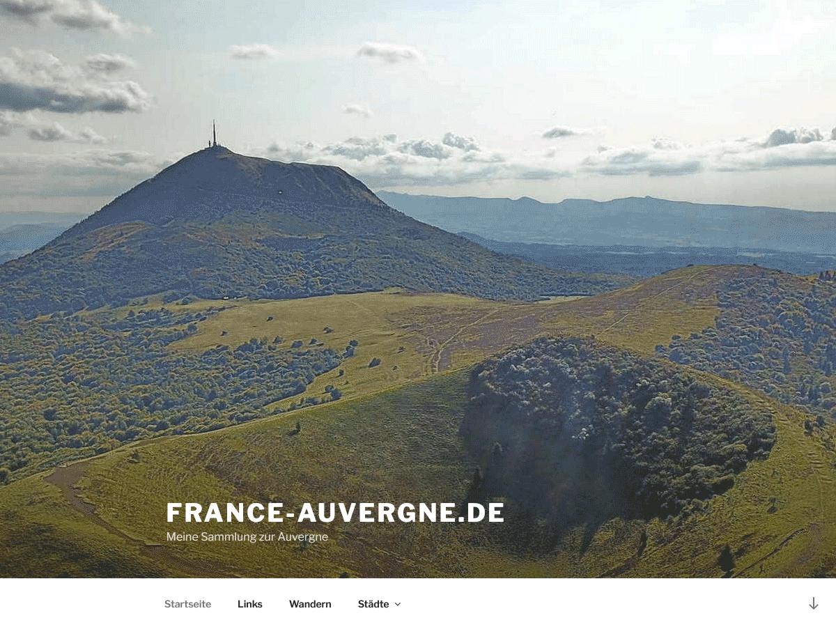 Webseite www.france-auvergne.de